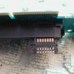 Another view of the SATA connector and the riser card