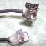 The modified eSata cable