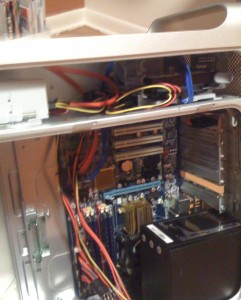 And yet another view of the components mounted in the G5 case